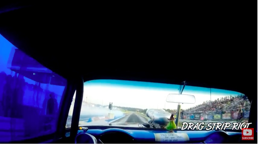 Gasser Eye View! Ride Along With Steve Crook In The Blown Blew By You 1955 Chevy – This Rules!