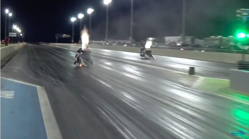 Watch Larry McBride Make The Quickest Top Fuel Drag Bike Run In History 5.611!