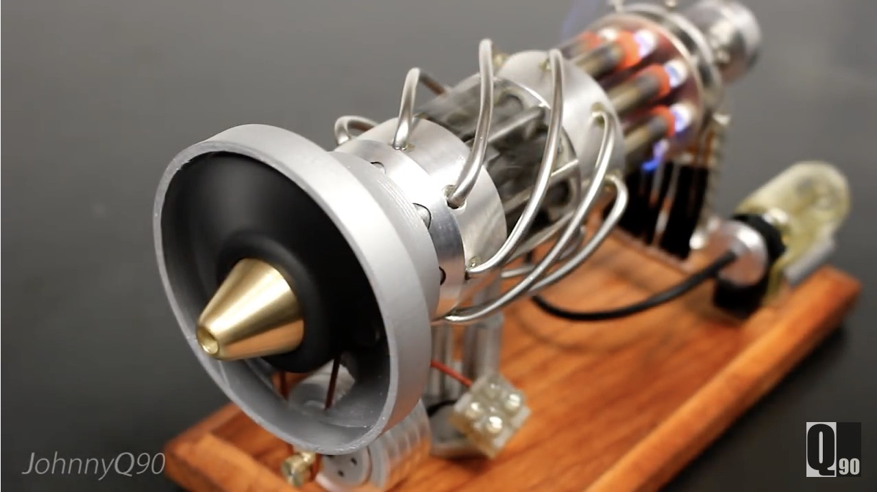 Hot-Rodding A Desk Engine: Turning A 16-Cylinder Sterling Engine Into An Electric Turbine!