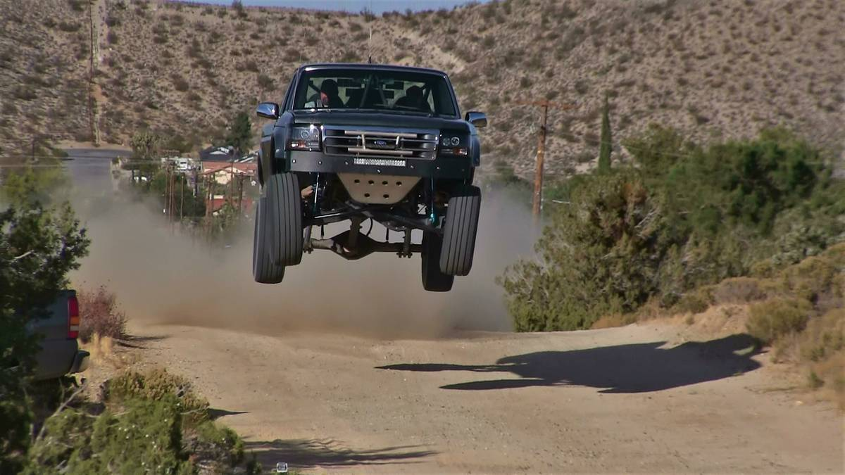 This 1994 F-150 Is High Flying Pre-Runner Greatness. Check Out The Air This Bad Boy Gets!