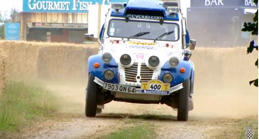 An Odd Rod For Sure: This Twin Engine Citroen 2CV Was Built To Run Dakar!