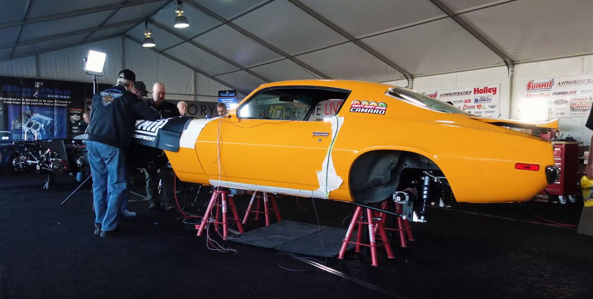 Here's The Day 5 Update From The 48-Hour Camaro Build We're Doing At Barrett-Jackson Scottsdale!