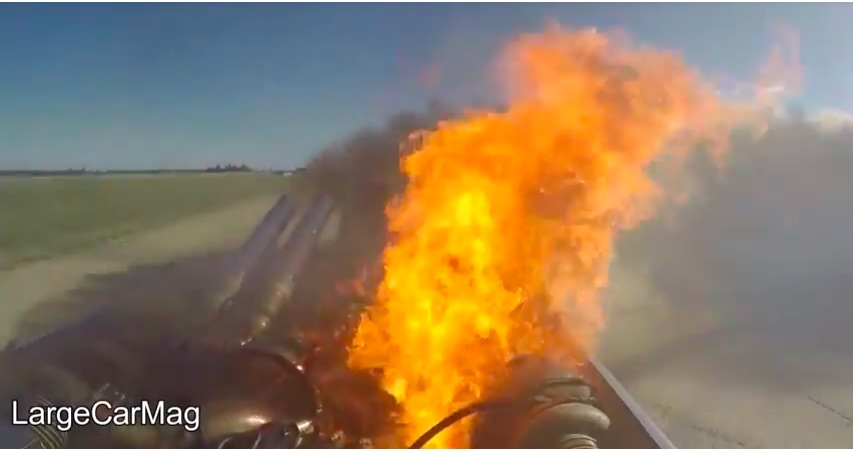 That's Bad, Right? This Screaming Diesel Truck Burns Tires And Then Catches On Fire!