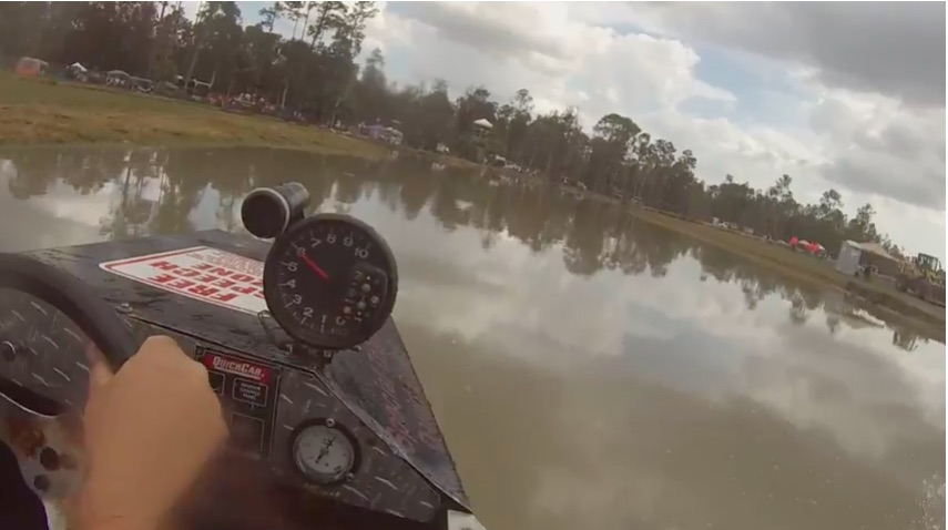 Ride Shotgun In A Swamp Buggy As it Runs Full Bore Around The Mile O Mud In Florida!