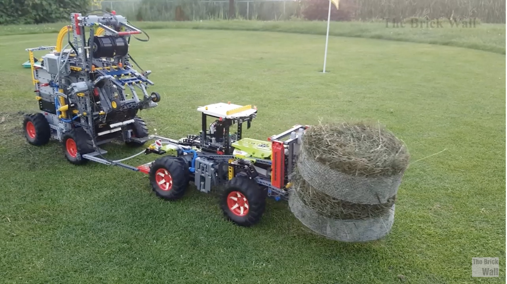 Ready For Spring Lawn Care? How About This Lego Technic-Based Hay Baler System?