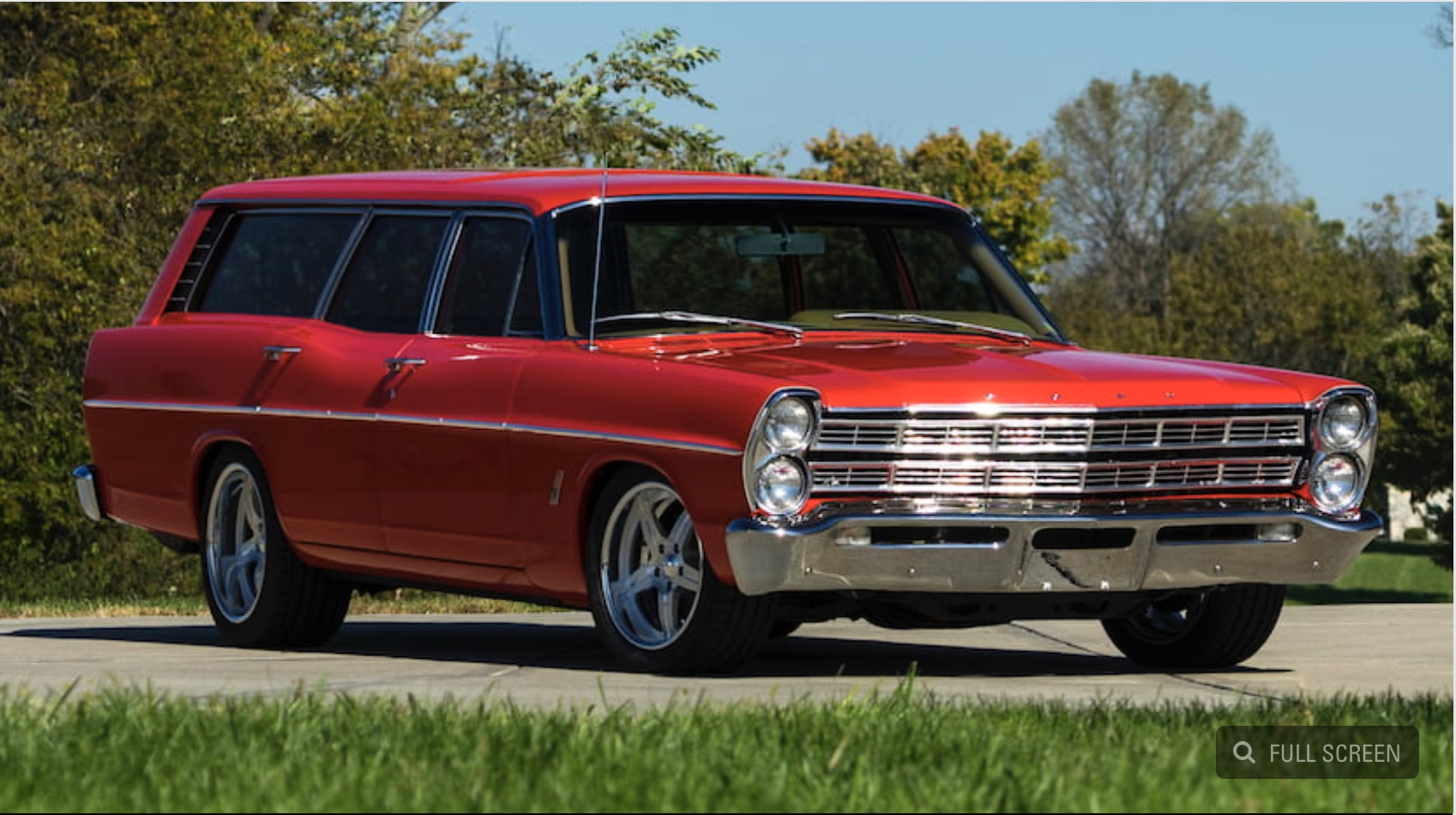 Bangshift Com Red Sled  This 1967 Ford Ranch Wagon Is A
