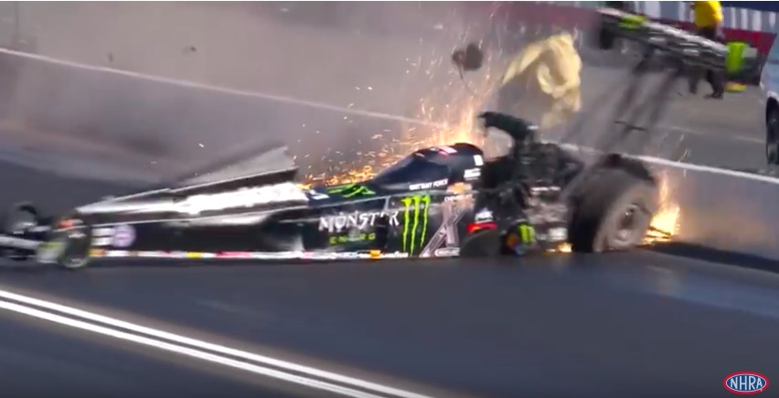 Crazy Video: Watch Brittany Force Suffer A Massive Crash In Her Top Fuel Dragster At The NHRA Winternationals