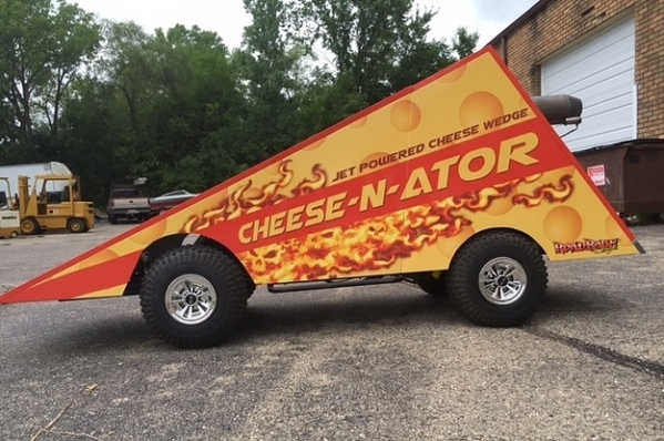 Guys, There's a Jet Powered Cheese Wedge For Sale On The Internet