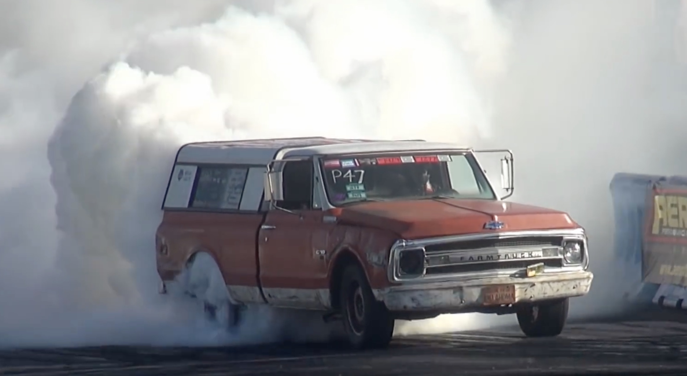 Farmtruck's Down Under Wonder Is Back In Action! Watch As The Aussie-Built C10 Hits The Skidpad At Good FryDay!