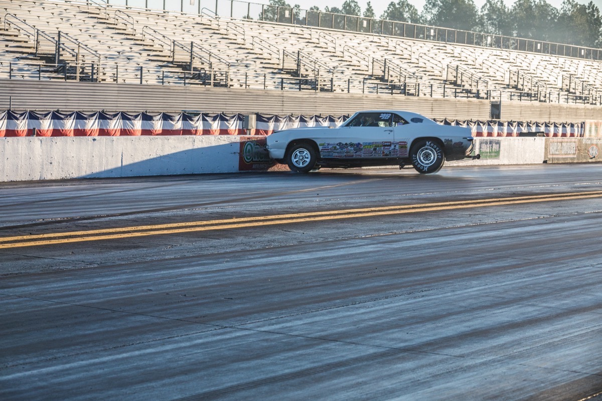 Tough Sequence: Watch This Big Block Stocker Get Into Trouble At The NHRA Gatornationals