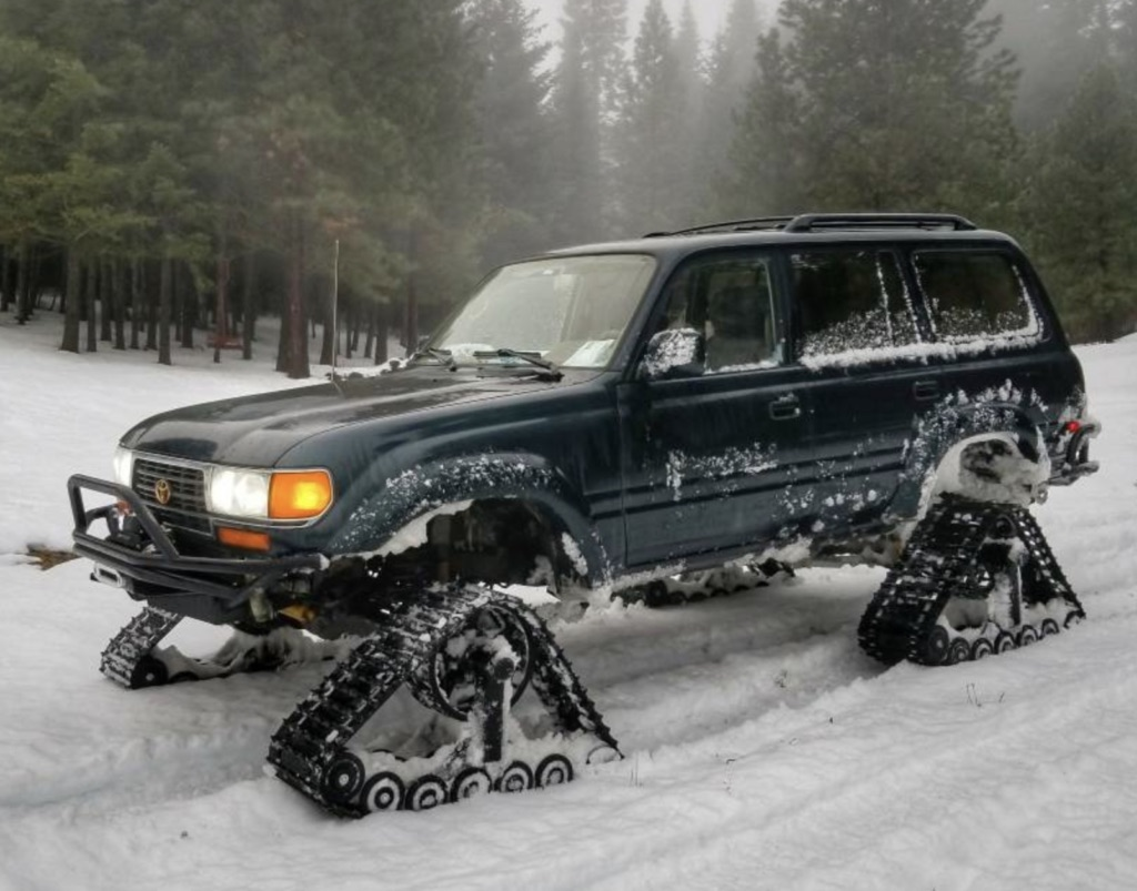 Still Buried Up To Your Bum In Snow? You Need A Toyota Land Cruiser On Tracks!