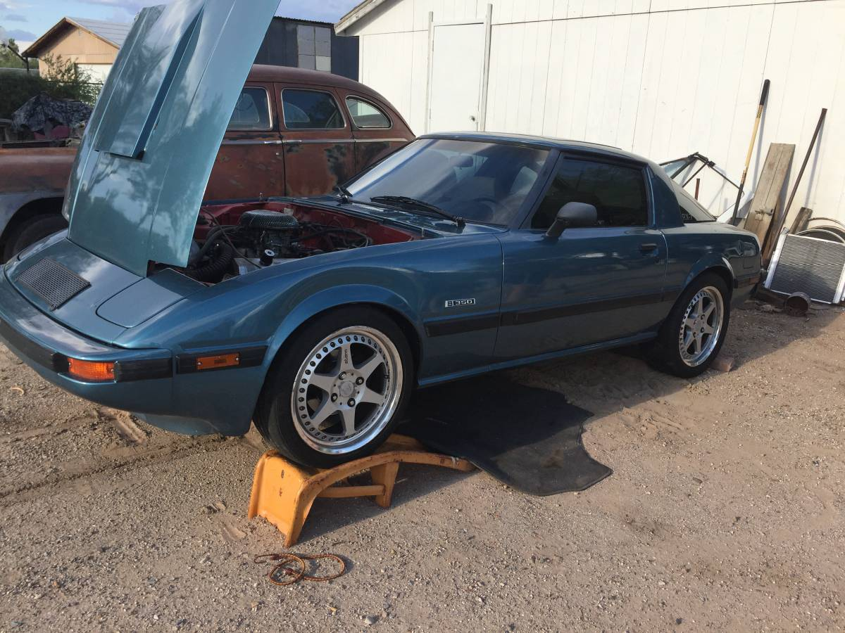 Rough Start: A 350/T-5 Equipped First-Gen Mazda RX-7 That Needs Another Rear End!