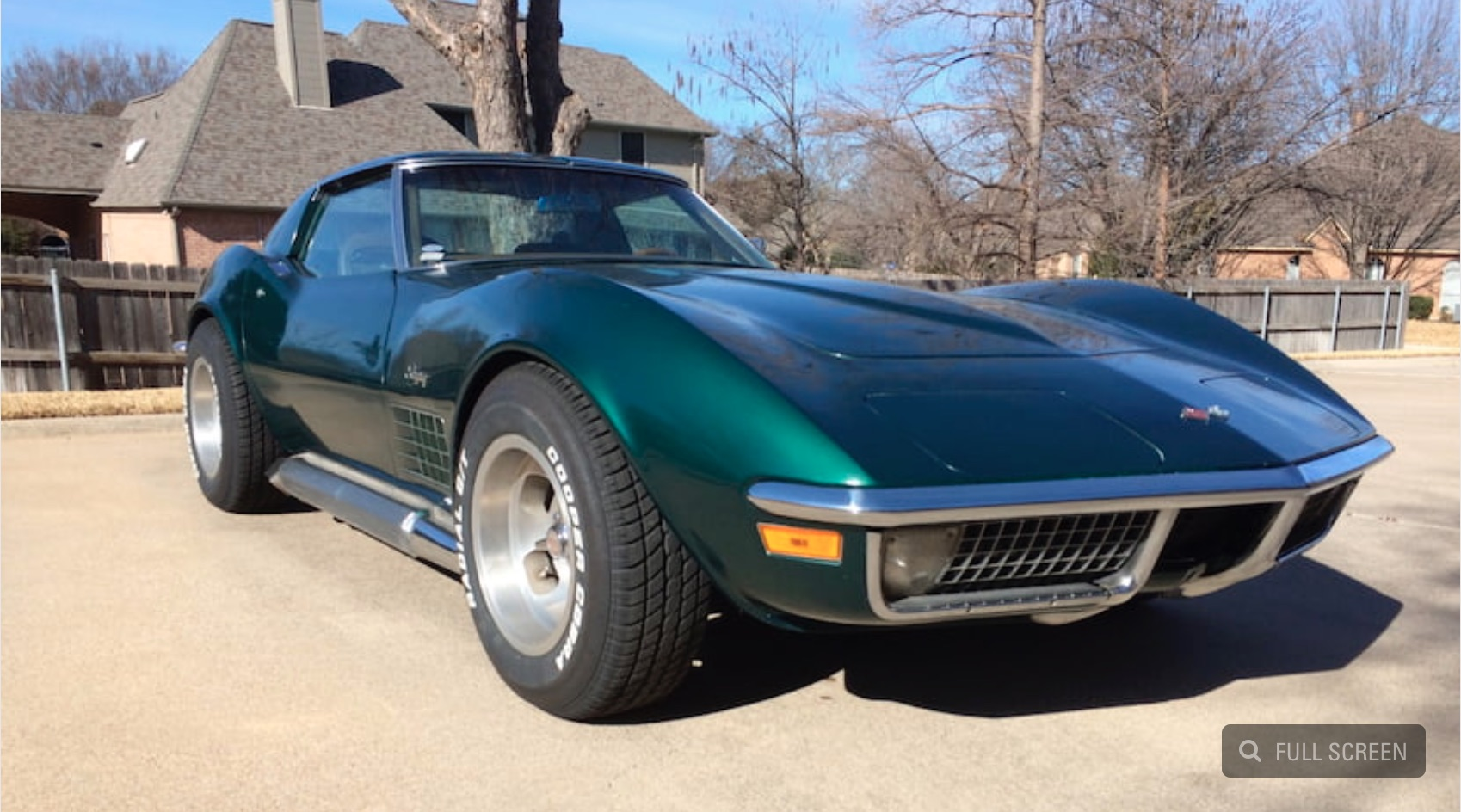 Day Two Beauty: This 1971 Chevrolet Corvette Is A Beauty Of An Emerald!
