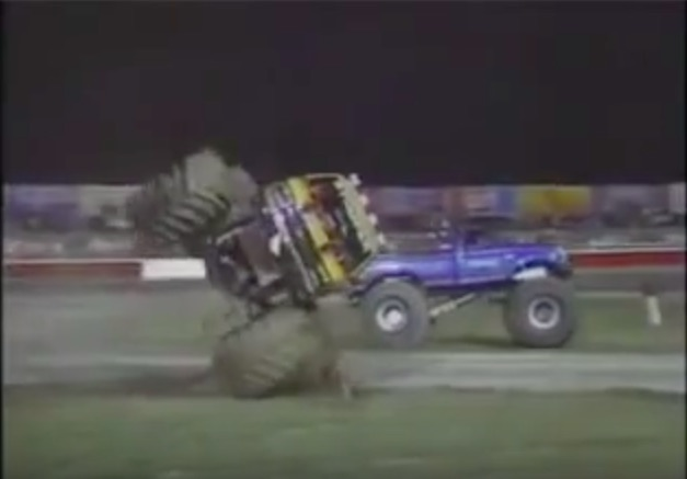 This 1988 Video Of Monster Trucks Racing On A Figure 8 Track In Louisville, Kentucky Rules