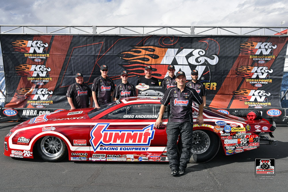 Greg Anderson Collects Record 7th K&N Horsepower Challenge Title and $50,000 at NHRA Vegas