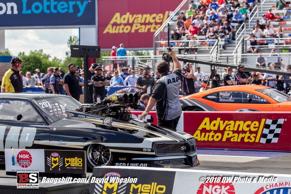 NHRA NGK Spark Plugs 4-Wide Nationals Pro Mod Photo Coverage – Eight Doors At A Time!