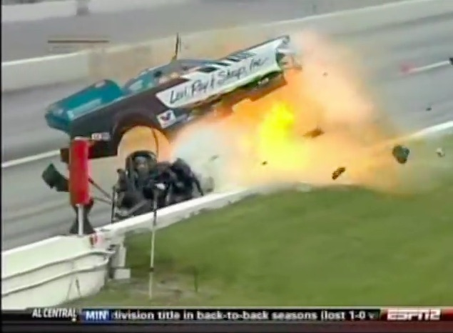 When The Wheels Fall Off: Watch Daniel Wilkerson's Crazy Crash From The 2009 NHRA Memphis Event