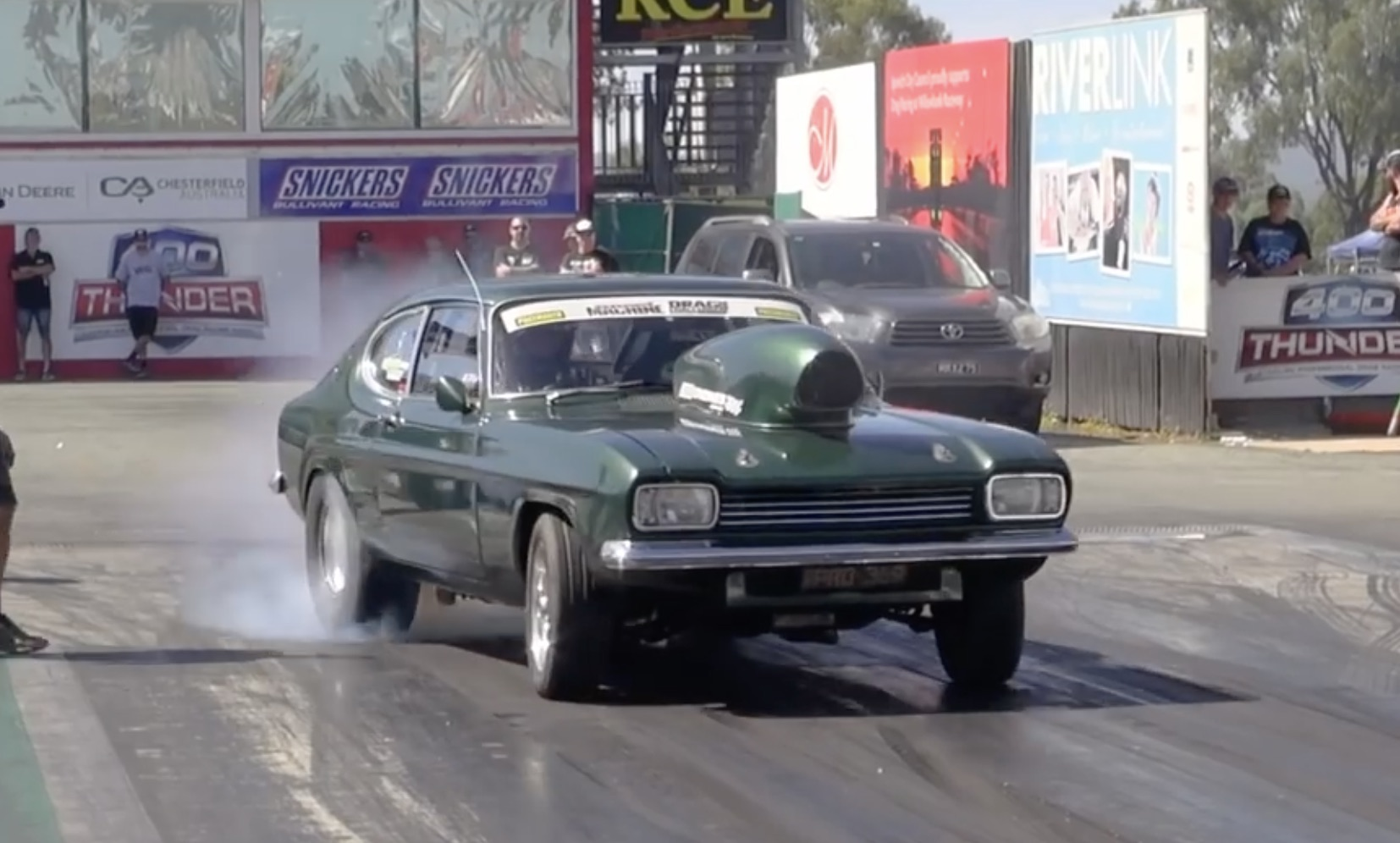 Color Me Green: Alon Vella's 1971 Ford Capri At Street Machine's Drag Challenge Weekend