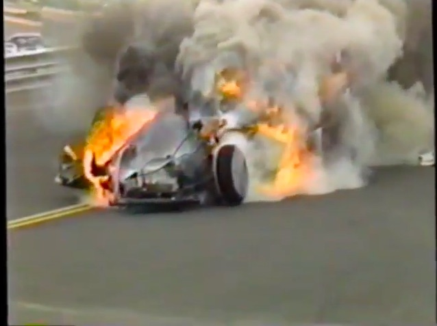 Watch Don Gay Jr's Awful Funny Car Fire At The 1989 NHRA Mile High Nationals