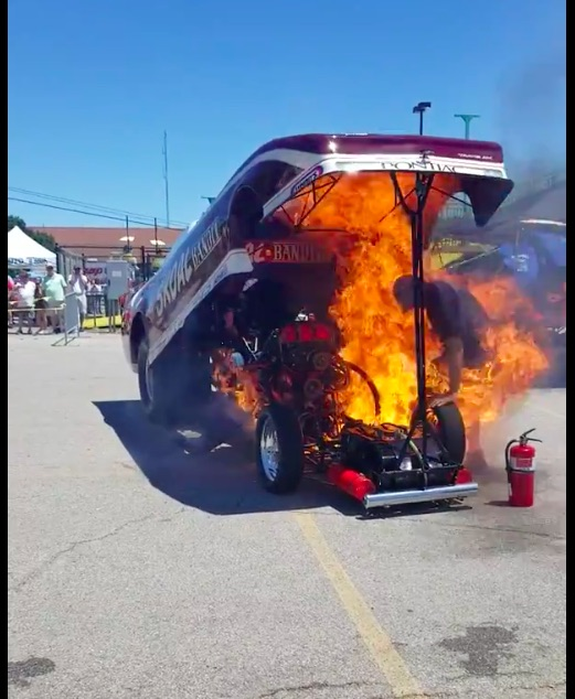 Doing It Wrong Video: Watch This Cackling Funny Car Throw The Rods Out And Put On A Flame Show