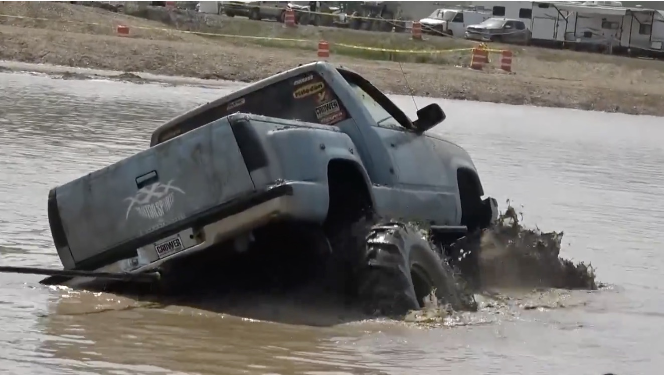 Halfway To China: This Buried Chevy Found Some Of The Nastiest, Grippiest Mud In Arkansas!