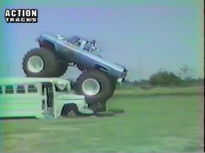 Watch One Of The First Monster Truck Bus Crush Attempts – Bear Foot In 1984 Has Axle Breaking Fun