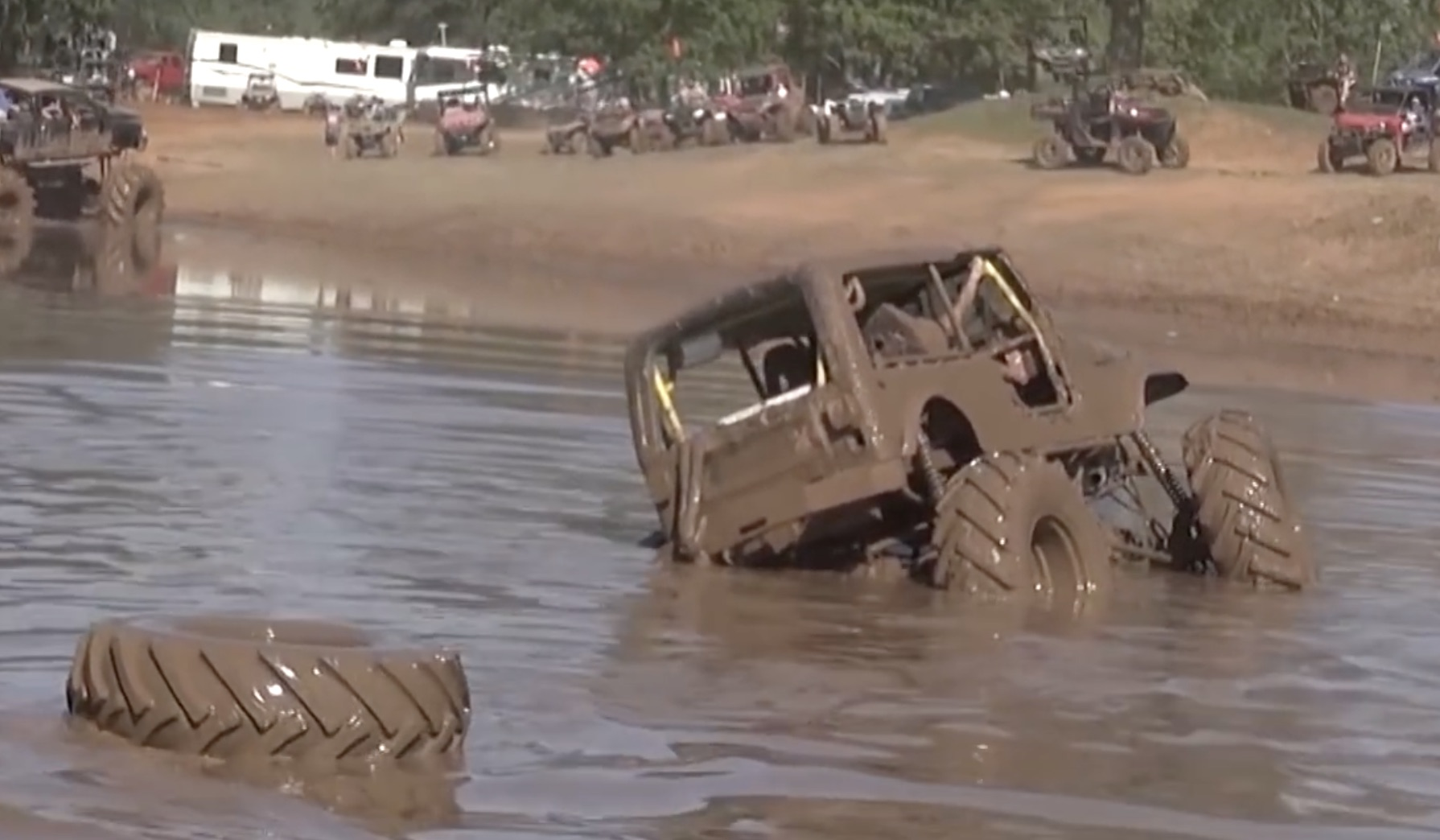 Caption This: Well…Hell With Mudding In The Jeep, We'll Go Tubing Instead.