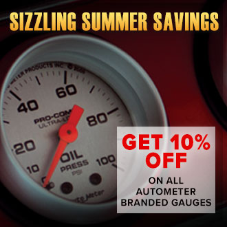 AutoMeter Sizzling Summer Savings: Get 10% Off All AutoMeter Branded Gauges Until October 31st