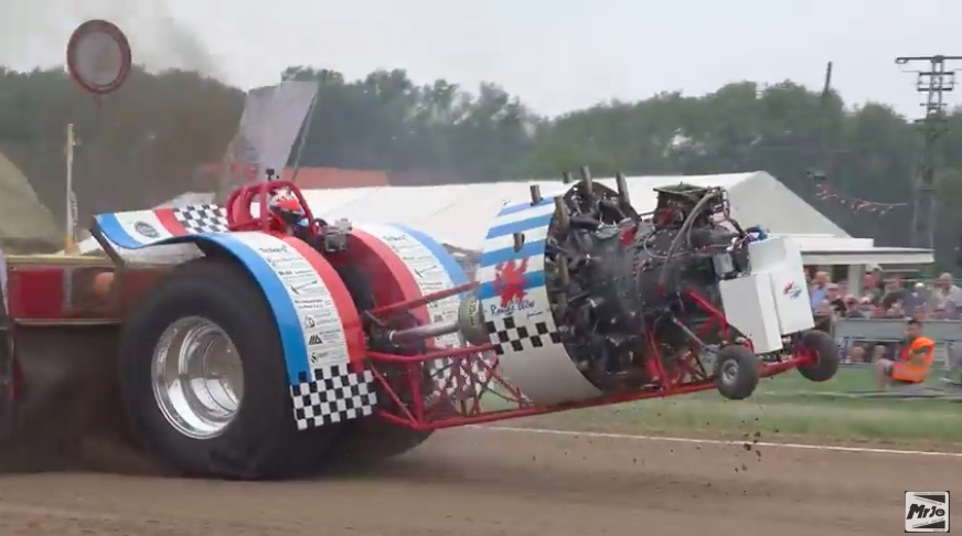 Bang, Boom, Bash: Watch This Radial Engine Tractor Bash The Ground And Nearly Go Turtle