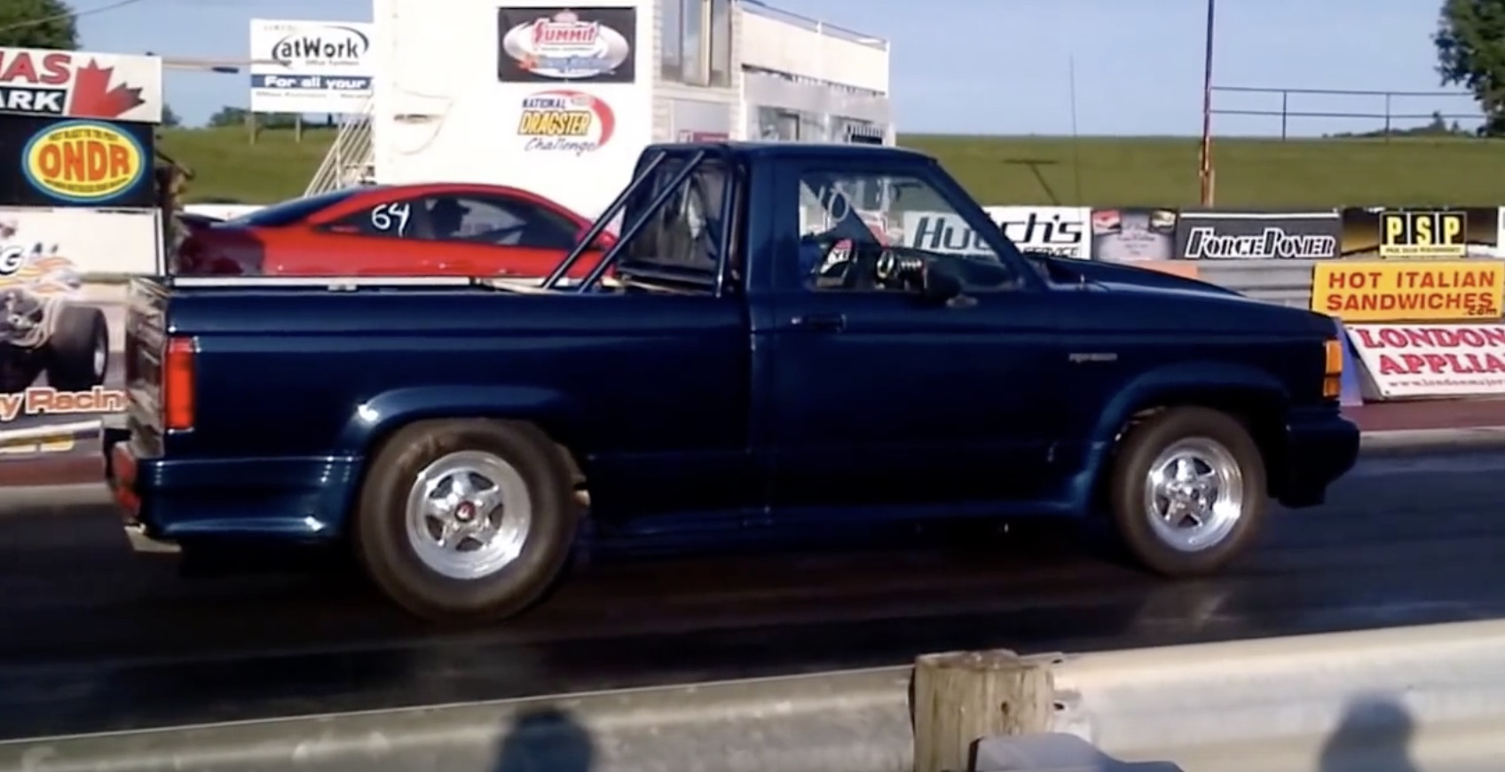This Ranger Gets Down The Strip With A Duratec 2.3L Four Making The Power!