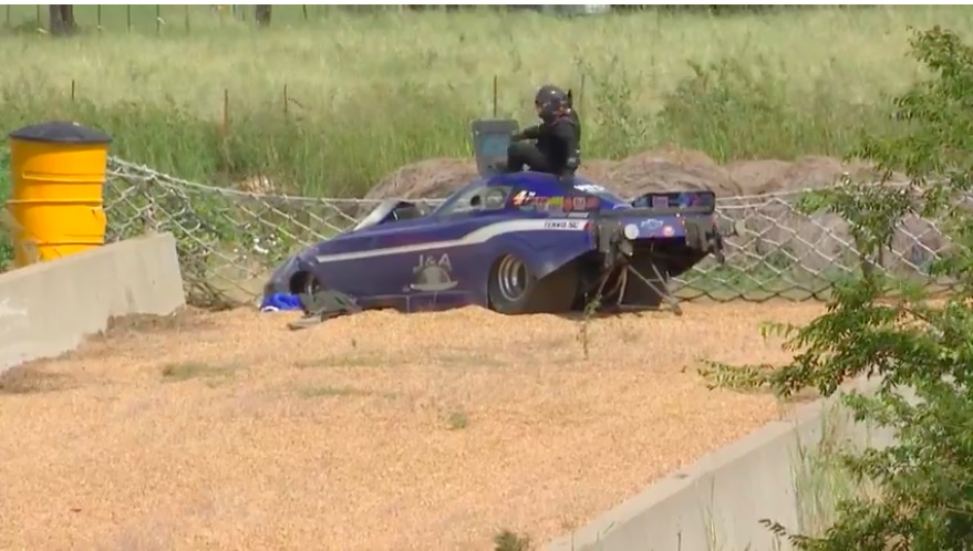 Watch Annie Whiteley's High Speed Trip Into The Texas Motorplex Sand Trap – She Was OK
