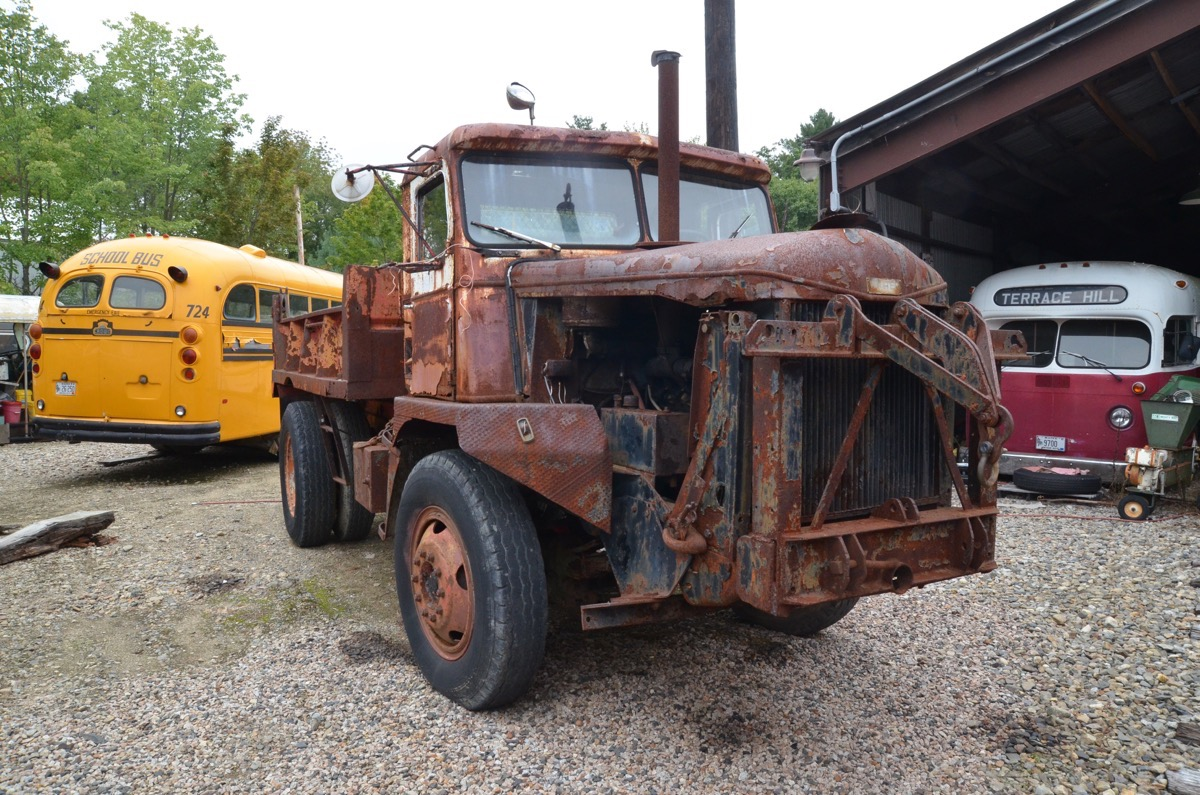Awesome Old Junk Gallery: The Trucks and Buses On Display Outside At The Seashore Trolley Museum In Maine