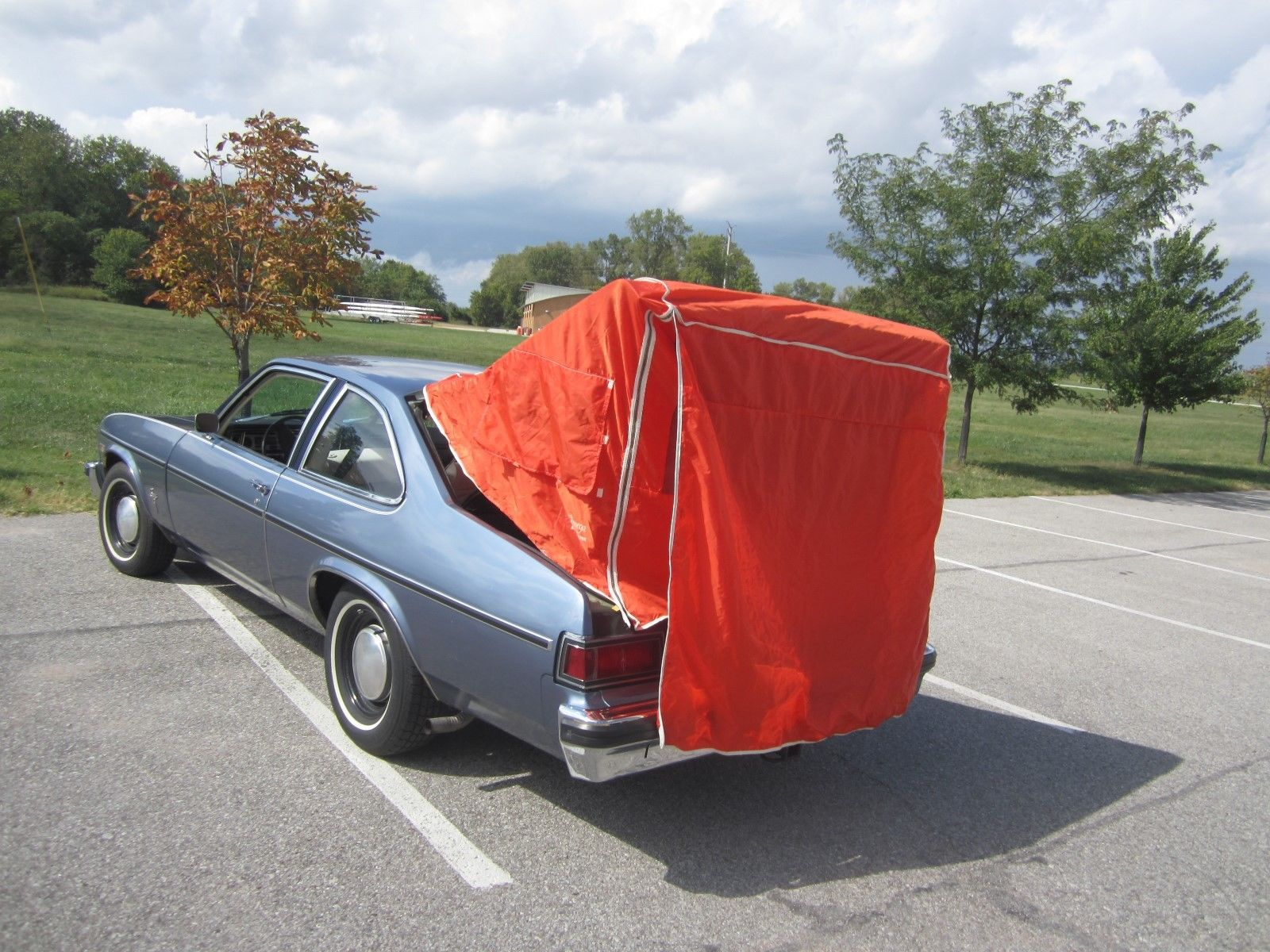 Self-Sufficient: Who Needs An RV When Your 1975 Oldsmobile Omega Has A Tent?