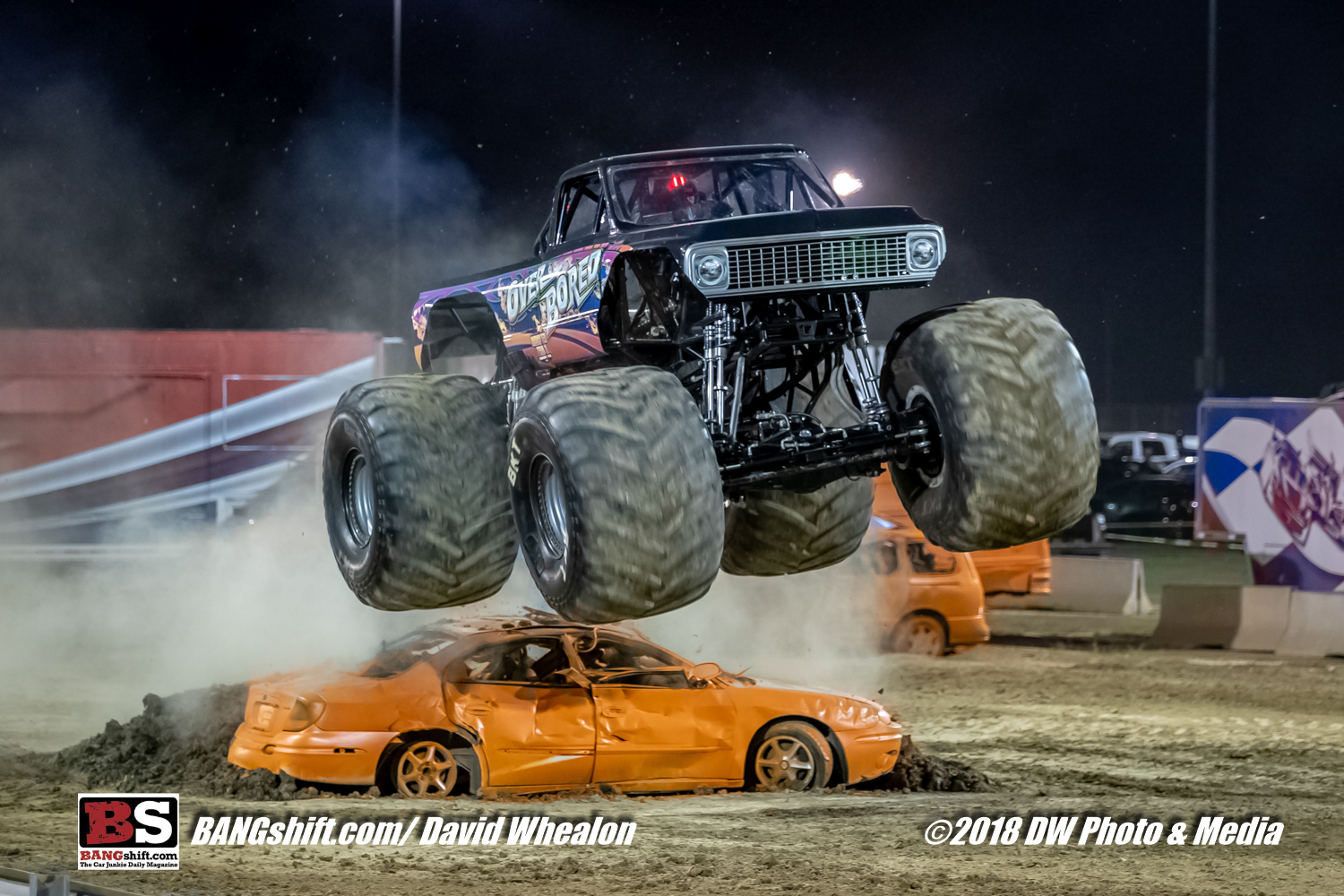 2018 Monster Truck Throwdown At GALOT Motorsports Park – Flying Trucks, Mashed Up Cars!
