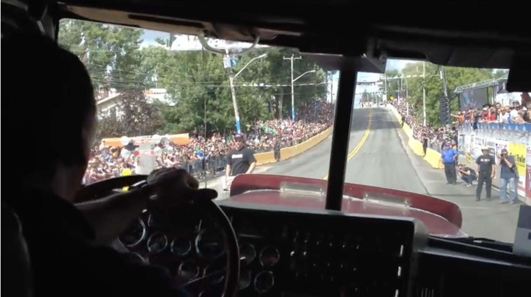 Hefty Turkey: Ride Along Inside Of A Peterbilt On A Run At The Rodéo du Camion Semi-Truck Races!