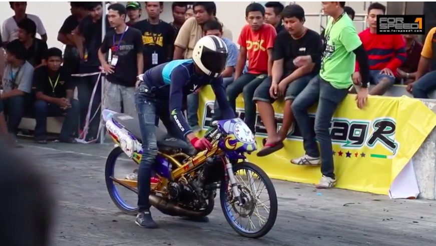 Best of 2019: Watch This Drag Racer In Thailand Battle A Power Wheelie On His Motorcycle