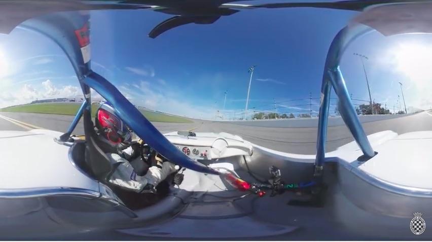 Screaming Turkey: Take A Ride In A Roaring C1 Corvette Racer On The Banks Of Daytona – 360 Degree Camera Bonus Fun!