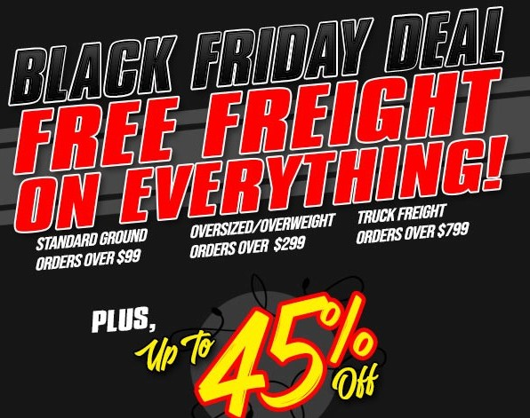Black Friday Deals: Get Up To 45% Off At Original Parts Group AND Free Shipping This Weekend!