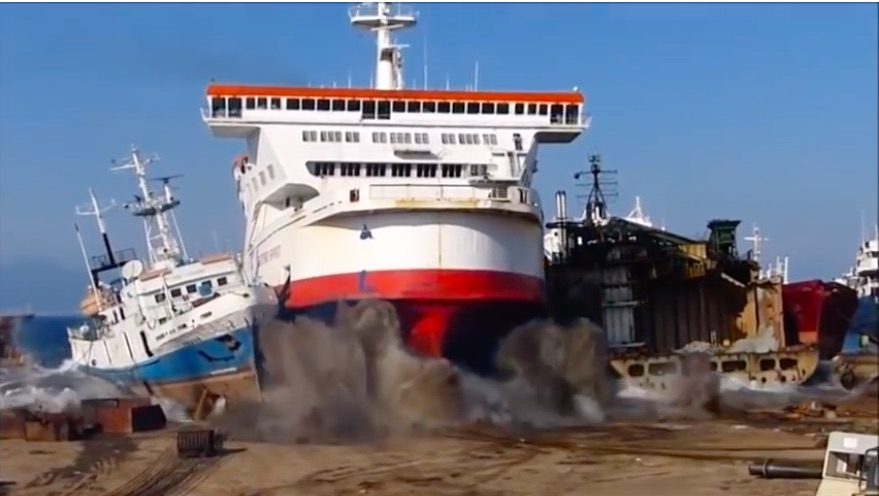 Odd Moment of Zen: This Video of Ships Intentionally Running Ashore Is Kind of Awesome