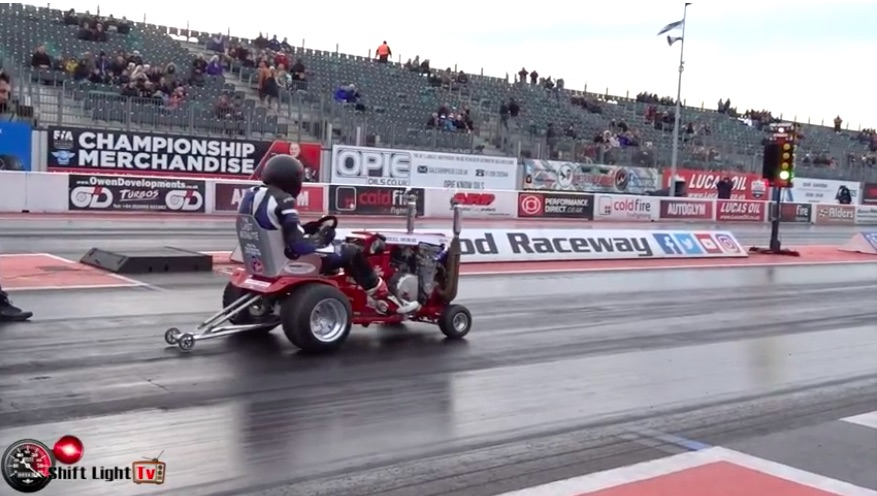 Seems Legit: Watch This Wheel Horse With a CBR 1000 Motor Run 12s At Santa Pod