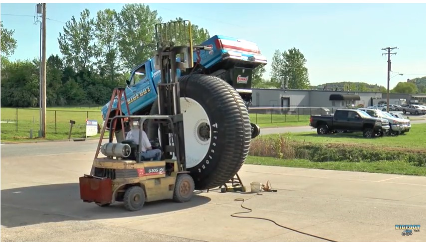 Ever Wonder How They Get Those Massive 10-foot Tall Tires On Bigfoot? It Ain't Easy! Here's A Time Lapse Video