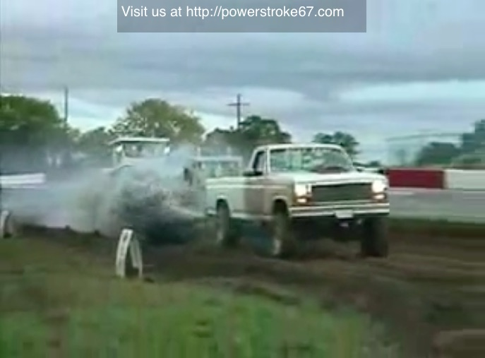 She's A Little Runaway: Watch This Old Ford IDI Diesel Run Away While Hooked To A Sled And Pull Like A Boss!