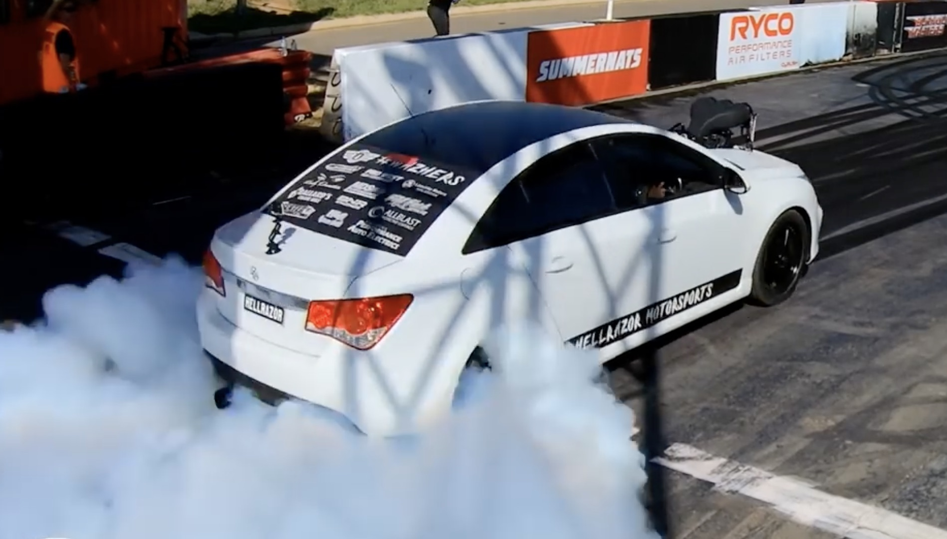 Never Would've Suspected: The World's Baddest Holden Cruze Burning Them Off At Summernats!