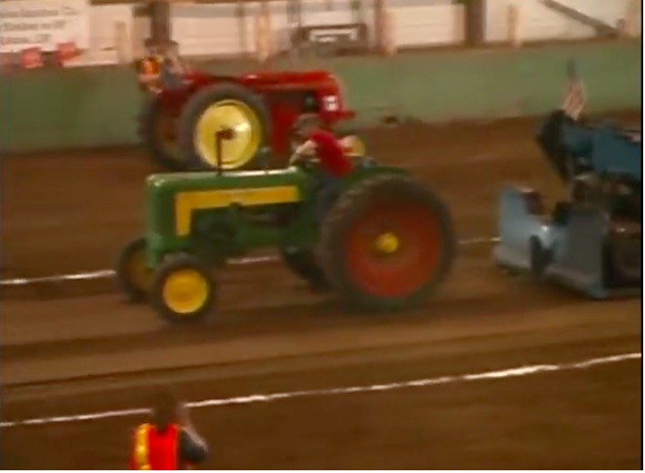 Two In A Row Make It Go: This 2-53 Powered John Deere 435 Sounds Epic Indoors With A Straight Pipe