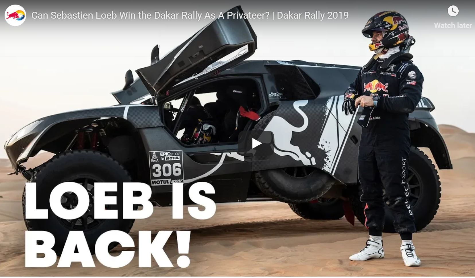 We Weren't The Only Ones Wondering If Sebastien Loeb Can Win the Dakar Rally As A Privateer In 2019