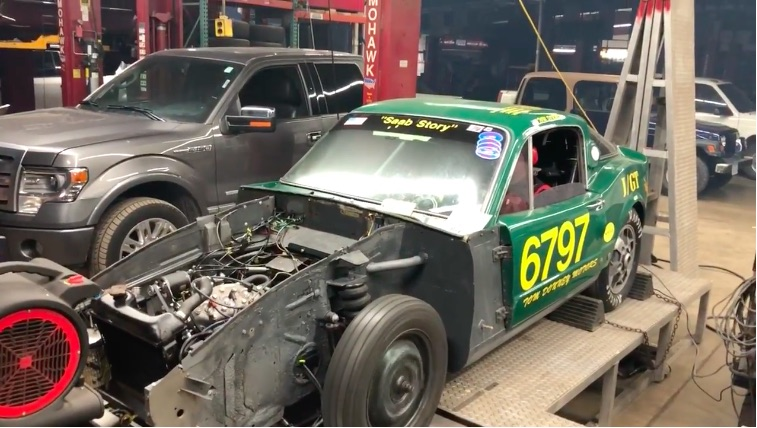 Watch This Awesome Saab Sonnett Bonneville Record Holder Make A Dyno Pull With Its 3-Cylinder 2-Stroke Engine!