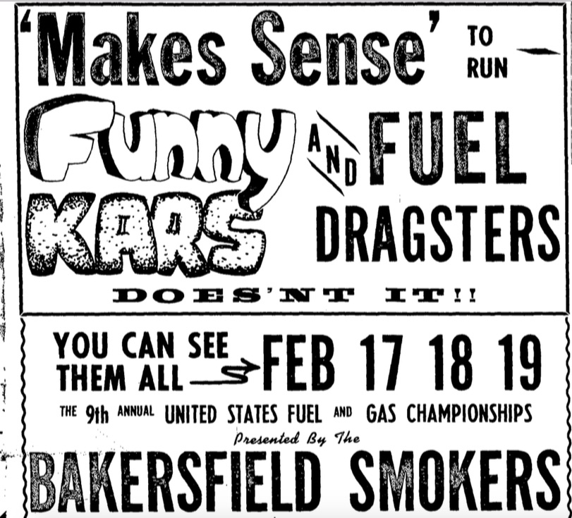 Fresh Catch: This Group Of Drag Racing Ads For Cars, Races, and Exhibition Machines Sums Up 1967 Nicely!