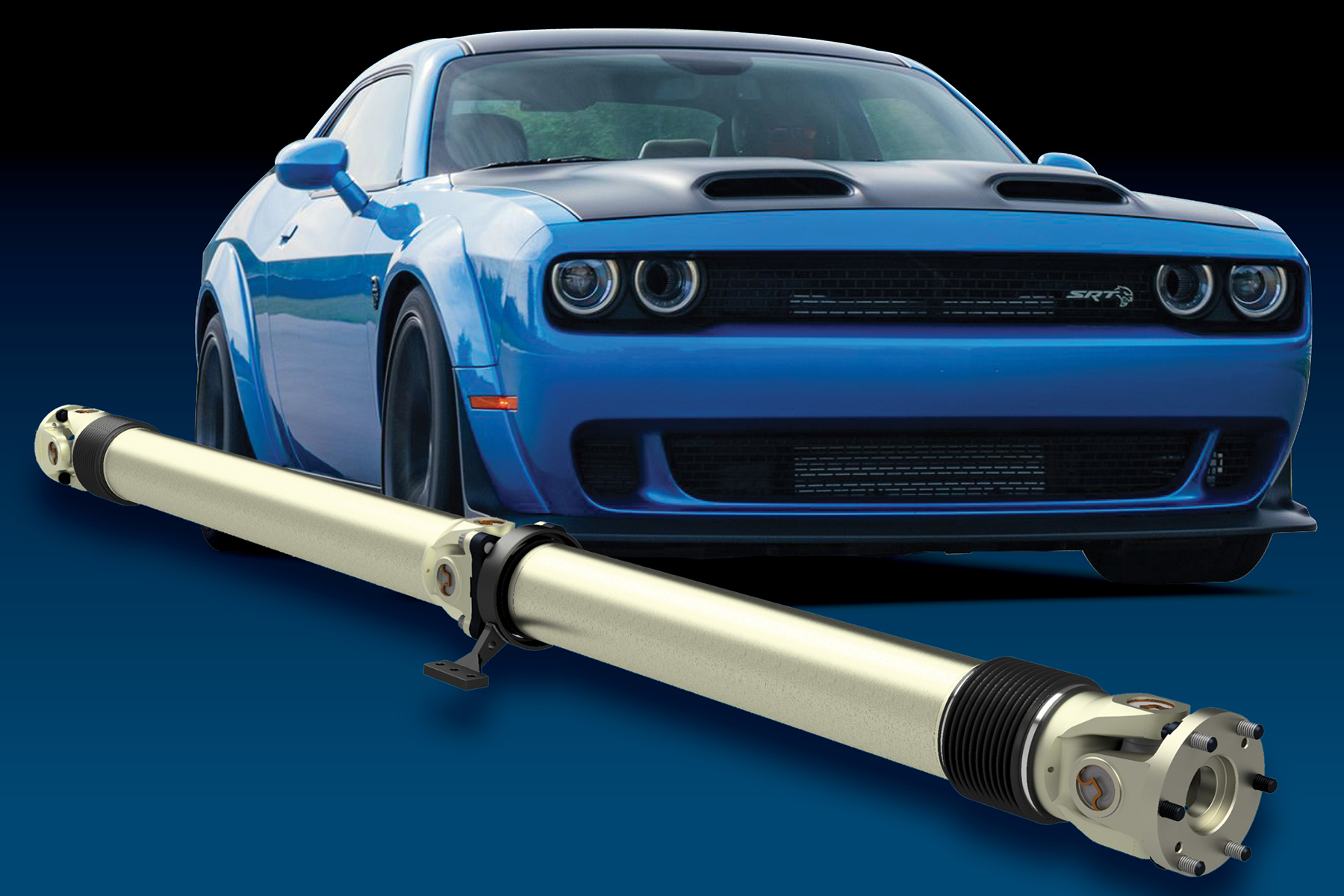Mark Williams Announces Hellcat Driveshafts In Both Carbon Fiber And Aluminum, Rated For Way Bigger Power And Much Higher RPM