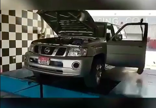 KABOOM: Watch This Hot Rodded Nissan Patrol Shred A Tire On The Chassis Dyno
