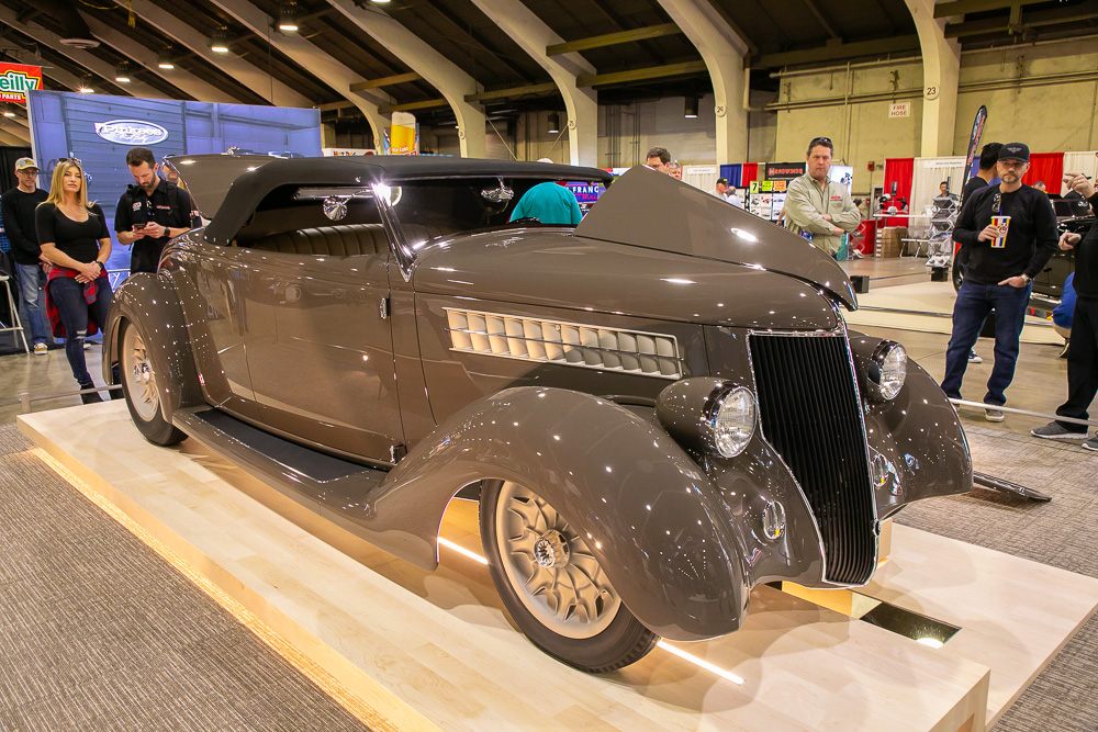 2019 America's Most Beautiful Roadster Winner: George Poteet's 3-Penny 1936 Ford, built by Pinkee's Rod Shop